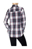 Fitted Plaid Button Down Shirt W/ Studded Pockets - BodiLove | 30% Off First Order  - 9