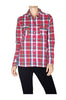 Fitted Plaid Button Down Shirt W/ Studded Pockets - BodiLove | 30% Off First Order  - 11