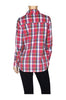 Fitted Plaid Button Down Shirt W/ Studded Pockets - BodiLove | 30% Off First Order  - 12
