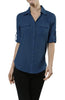 3/4 Sleeve Cotton Button Down Blouse - BodiLove | 30% Off First Order  - 3
