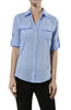 3/4 Sleeve Cotton Button Down Blouse - BodiLove | 30% Off First Order  - 8
