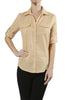 3/4 Sleeve Cotton Button Down Blouse - BodiLove | 30% Off First Order  - 10