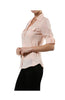 3/4 Sleeve Cotton Button Down Blouse - BodiLove | 30% Off First Order  - 11
