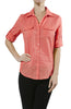 3/4 Sleeve Cotton Button Down Blouse - BodiLove | 30% Off First Order  - 13