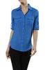 3/4 Sleeve Cotton Button Down Blouse - BodiLove | 30% Off First Order  - 18