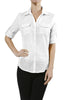 3/4 Sleeve Cotton Button Down Blouse - BodiLove | 30% Off First Order  - 20