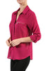 3/4 Sleeve Button Down Blouse W/ Zipper Pockets - BodiLove | 30% Off First Order  - 17