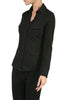 Long-Sleeve, 2-Pocket, Button-Down Stretch Shirt | 30% Off First Order | Black