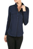 Long-Sleeve, 2-Pocket, Button-Down Stretch Shirt | 30% Off First Order | Navy