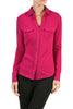 Long-Sleeve, 2-Pocket, Button-Down Stretch Shirt | 30% Off First Order | Magenta