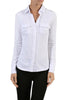 Long-Sleeve, 2-Pocket, Button-Down Stretch Shirt | 30% Off First Order | White
