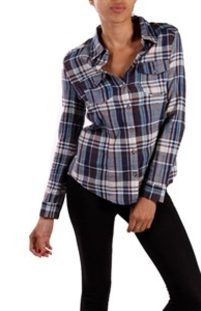Button Down Plaid Shirt - BodiLove | 30% Off First Order  - 1