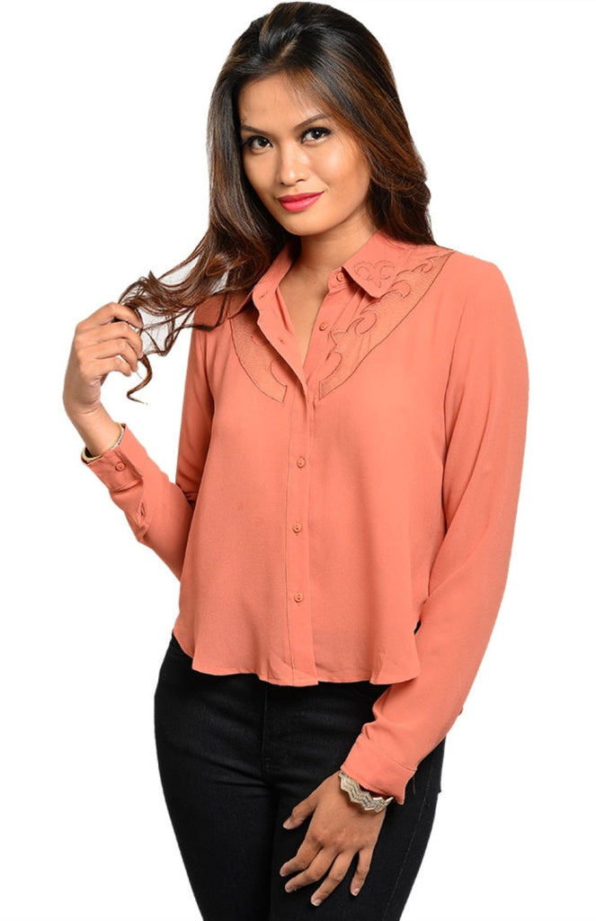 Western Inspired Cut Out Shirt - BodiLove | 30% Off First Order  - 3