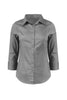 3/4 Sleeve Cotton Button Down Blouse | 30% Off First Order | Dark Gray