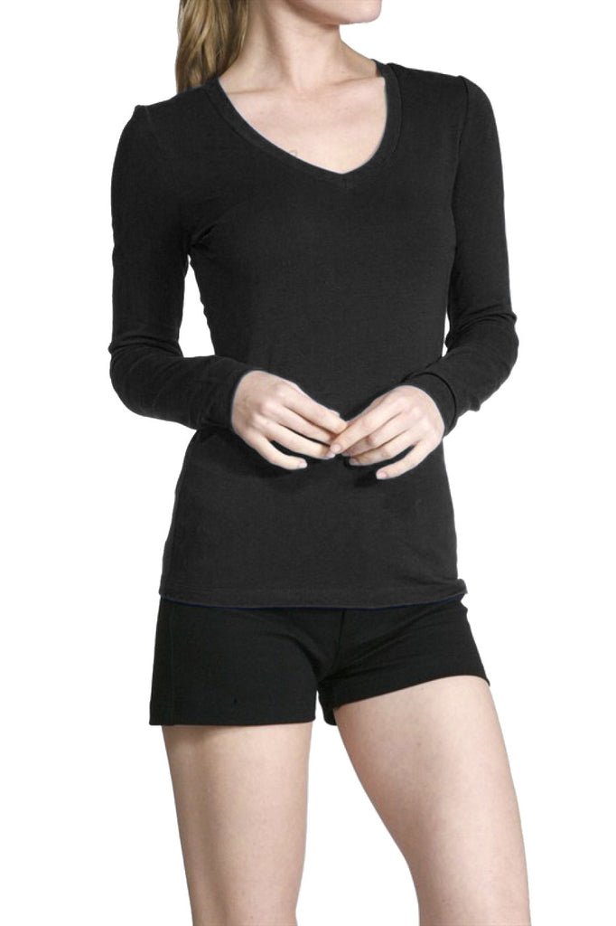 Long Sleeve V-Neck Top - BodiLove | 30% Off First Order  - 1