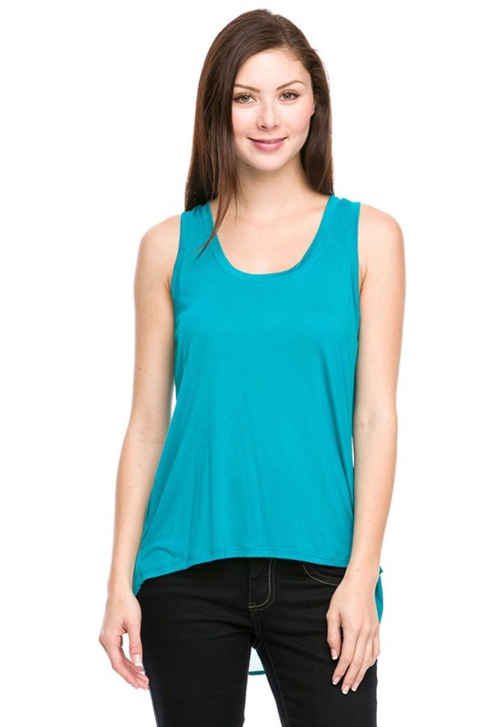 Sleeveless Hi-Low Tank - BodiLove | 30% Off First Order  - 1
