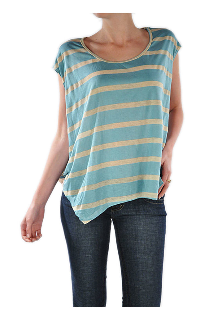 Oversized Striped Sheer Back Top - BodiLove | 30% Off First Order  - 1