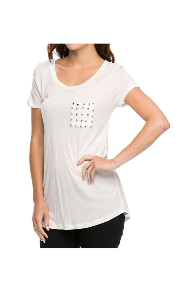 Studded Pocket Boyfriend Tee - BodiLove | 30% Off First Order  - 7