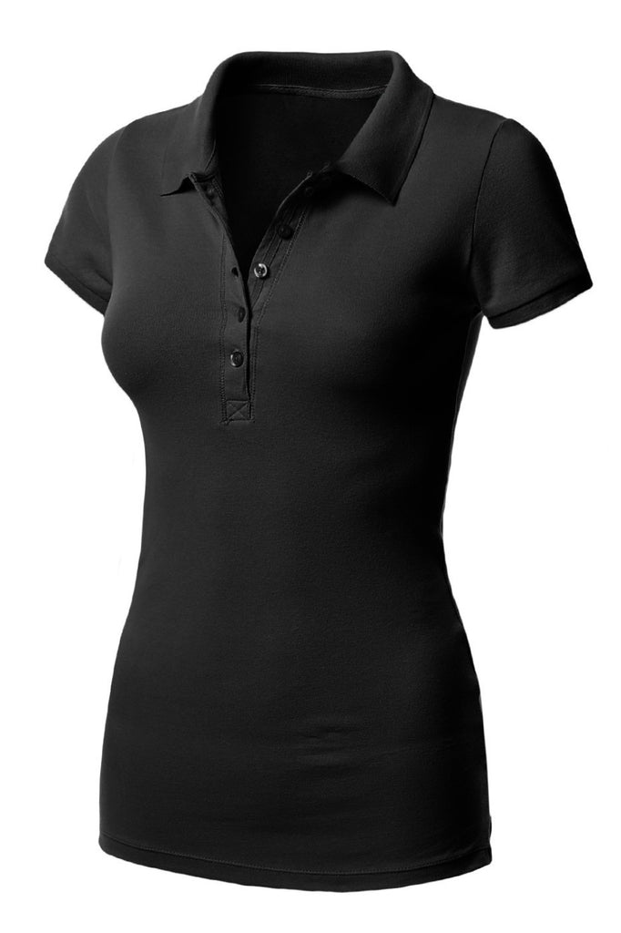 Short Sleeve 5 Button Polo Shirt - BodiLove | 30% Off First Order  - 1