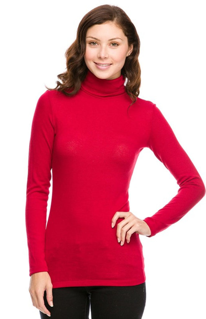 Fitted Long Sleeve Turtle Neck Top - BodiLove | 30% Off First Order - 1