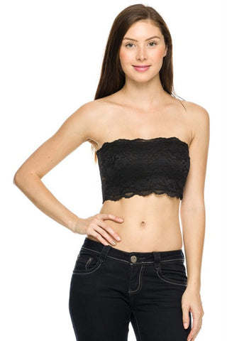 Strapless Lace Bandeau Bra Top