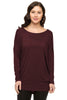 Long Dolman Sleeve Scoop Neck Tunic Top - BodiLove | 30% Off First Order - 4