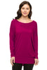 Long Dolman Sleeve Scoop Neck Tunic Top - BodiLove | 30% Off First Order - 13