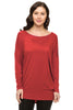 Long Dolman Sleeve Scoop Neck Tunic Top - BodiLove | 30% Off First Order - 16
