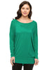 Long Dolman Sleeve Scoop Neck Tunic Top - BodiLove | 30% Off First Order - 19