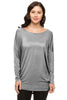 Long Dolman Sleeve Scoop Neck Tunic Top - BodiLove | 30% Off First Order - 22