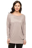 Long Dolman Sleeve Scoop Neck Tunic Top - BodiLove | 30% Off First Order - 25