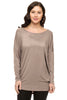 Long Dolman Sleeve Scoop Neck Tunic Top - BodiLove | 30% Off First Order - 34