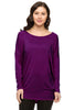 Long Dolman Sleeve Scoop Neck Tunic Top - BodiLove | 30% Off First Order - 37