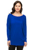 Long Dolman Sleeve Scoop Neck Tunic Top - BodiLove | 30% Off First Order - 40
