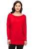 Long Dolman Sleeve Scoop Neck Tunic Top - BodiLove | 30% Off First Order - 43