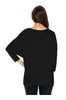3/4 Sleeve Knit Top W/ Lace Trim - BodiLove | 30% Off First Order - 2 | Black2