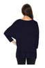 3/4 Sleeve Knit Top W/ Lace Trim - BodiLove | 30% Off First Order - 9 | Navy1