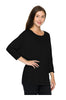 3/4 Sleeve Knit Top W/ Lace Trim - BodiLove | 30% Off First Order - 3 | Black2