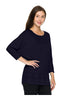 3/4 Sleeve Knit Top W/ Lace Trim - BodiLove | 30% Off First Order - 10 | Navy1