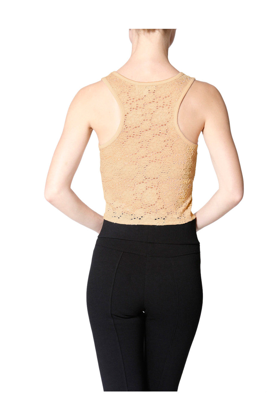 ac3ea1f494aa6 Sleeveless Crop Top With Sheer Lace Racer Back – BodiLove Fashion Store