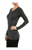 Trendy Long Sleeve Scoop Neck Top - BodiLove | 30% Off First Order  - 16