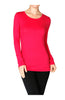 Trendy Long Sleeve Scoop Neck Top - BodiLove | 30% Off First Order  - 18