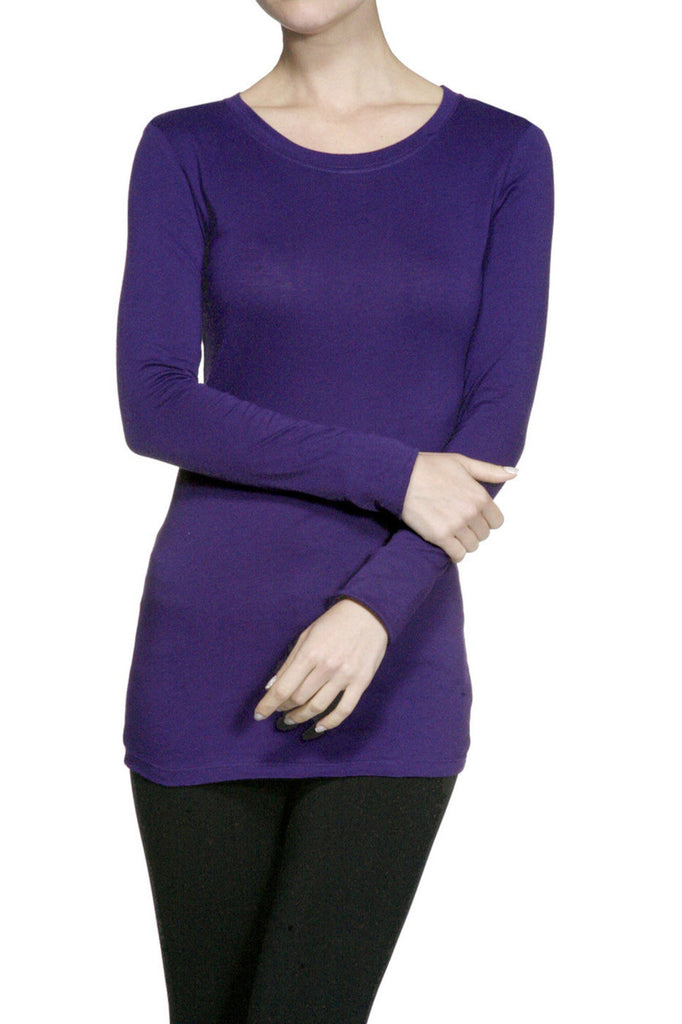 Trendy Long Sleeve Scoop Neck Top - BodiLove | 30% Off First Order  - 8
