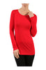 Trendy Long Sleeve Scoop Neck Top - BodiLove | 30% Off First Order  - 9