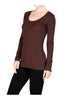Trendy Long Sleeve Scoop Neck Top - BodiLove | 30% Off First Order - 13
