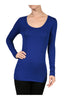 Trendy Long Sleeve Scoop Neck Top - BodiLove | 30% Off First Order - 5