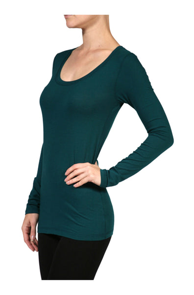 Trendy Long Sleeve Scoop Neck Top - BodiLove | 30% Off First Order - 1