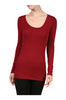 Trendy Long Sleeve Scoop Neck Top - BodiLove | 30% Off First Order - 15