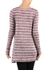 Striped Long Sleeve Knit Tunic Top - BodiLove | 30% Off First Order - 4