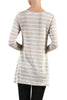 Striped Long Sleeve Knit Tunic Top - BodiLove | 30% Off First Order - 7
